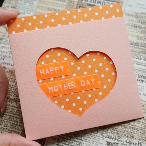 DIY 母親 抽拉式信封愛心卡片 CHUAN HANDMADE (1)
