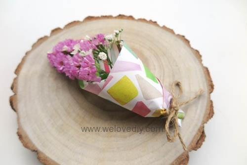 MIDORI Origami 玩色紙婚禮小物手作迷你捧花 (1)