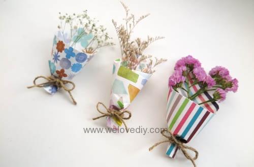 MIDORI Origami 玩色紙婚禮小物手作迷你捧花 (5)