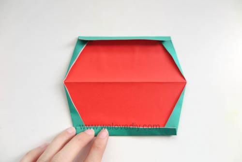 DIY 夏天水果西瓜簡易摺紙親子手作教學 (6)