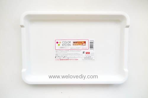 DIY 手作大創 DAISO 修補貼紙點點裝飾置物盤 (1)
