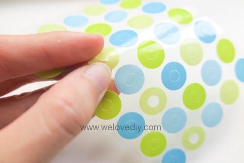 DIY 手作大創 DAISO 修補貼紙點點裝飾置物盤 (4)