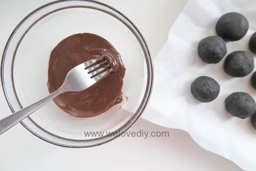 DIY OREO Truffles 情人節甜點三個材料做奧利奧餅乾松露巧克力 (13)
