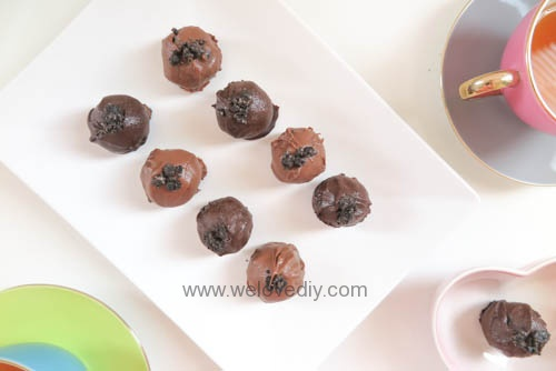 DIY OREO Truffles 情人節甜點三個材料做奧利奧餅乾松露巧克力 (19)