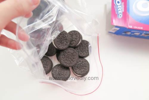 DIY OREO Truffles 情人節甜點三個材料做奧利奧餅乾松露巧克力 (3)