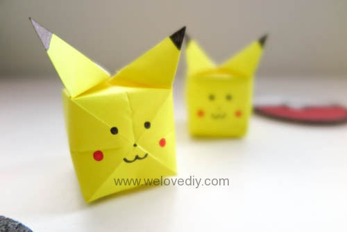 DIY Pikachu Pokemon Go 精靈寶可夢神奇寶貝立體皮卡丘摺紙教學