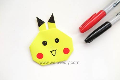 DIY Pokemon Go 精靈寶可夢神奇寶貝皮卡丘摺紙 (10)