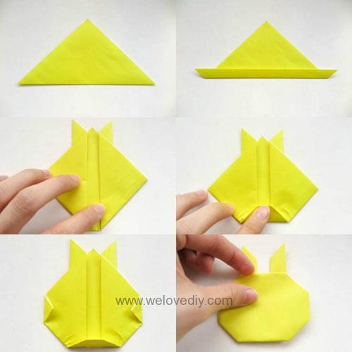 DIY Pokemon Go 精靈寶可夢神奇寶貝立體皮卡丘摺紙教學