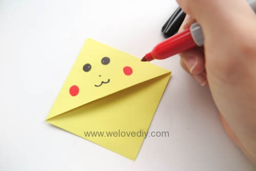 DIY Pokemon Go Bookmark 精靈寶可夢神奇寶貝皮卡丘摺紙書籤 (8)