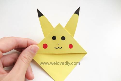 DIY Pokemon Go Bookmark 精靈寶可夢神奇寶貝皮卡丘摺紙書籤 (9)