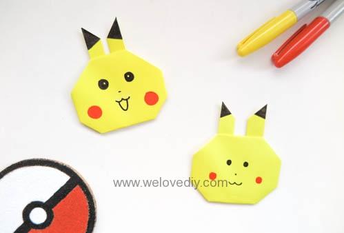DIY Pokemon Go Pikachu 精靈寶可夢神奇寶貝皮卡丘摺紙