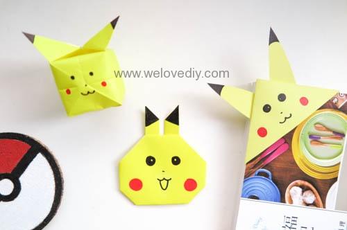 DIY Pokemon Go Pikachu Origami 精靈寶可夢神奇寶貝立體皮卡丘摺紙