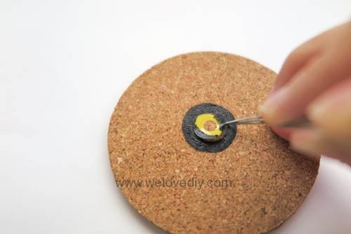 DIY Pokemon Go poke ball cork coaster 寶可夢神奇寶貝精靈球手作杯墊 (3)
