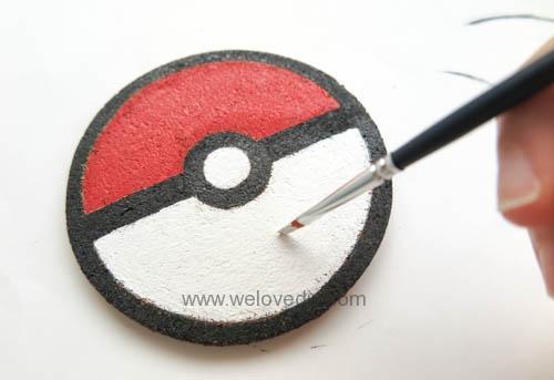 DIY Pokemon Go poke ball cork coaster 寶可夢神奇寶貝精靈球手作杯墊 (8)