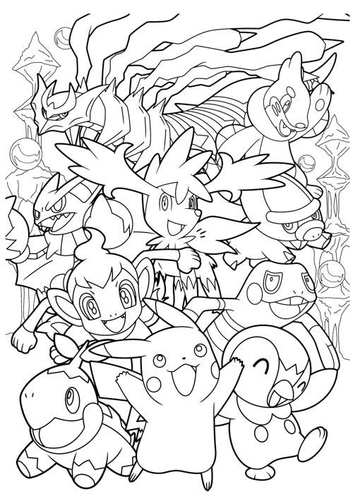 Pokemon Go 精靈寶可夢親子著色畫下載