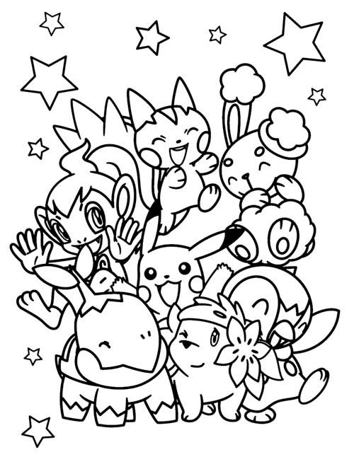 Pokemon Go 精靈寶可夢親子著色畫免費下載2