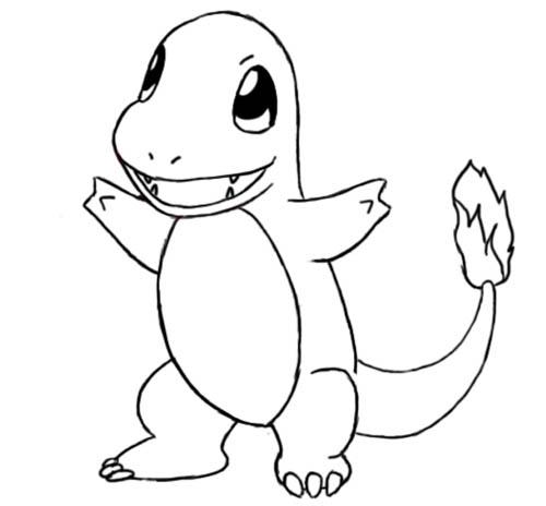 Pokemon Go Charmander 精靈寶可夢小火龍親子著色畫免費下載