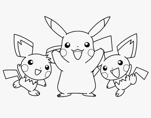 Pokemon Go Pikachu 皮卡丘精靈寶可夢親子著色畫免費下載