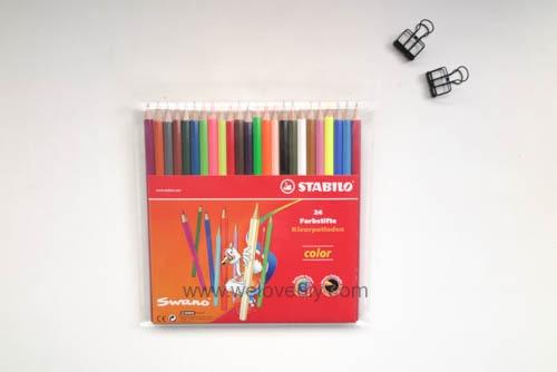 STABILO 德國天鵝牌 Color系列 六角形色鉛筆 膠盒組 24色 開箱介紹 (1)