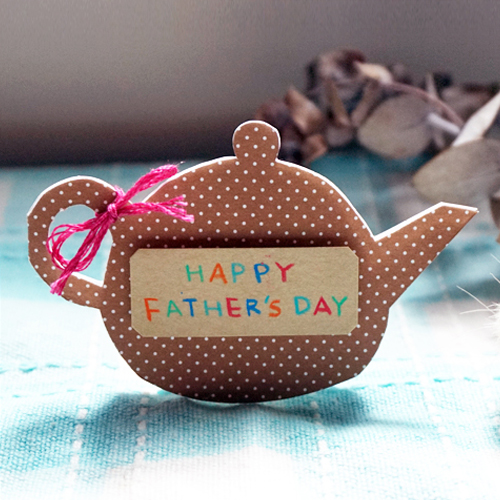 DIY 父親節茶壺造型手作卡片1