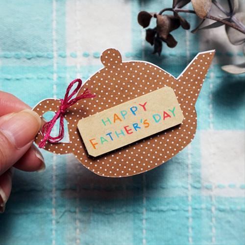 DIY 父親節茶壺造型手作卡片16
