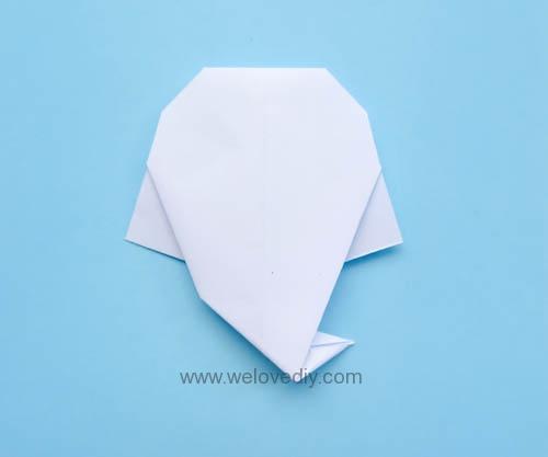 DIY 萬聖節中元節小鬼幽靈摺紙